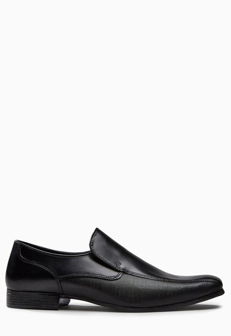 NEXT Pantofi loafer negri de piele