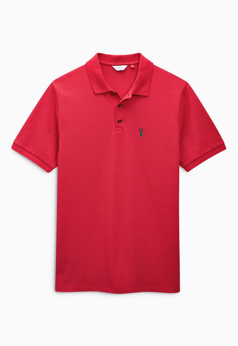 NEXT Tricou polo rosu din pique