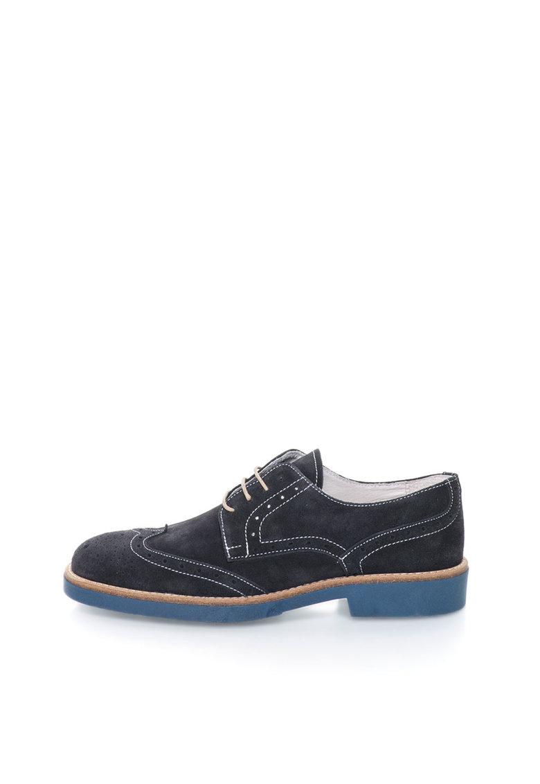 Zee Lane Pantofi brogue bleumarin de piele intoarsa