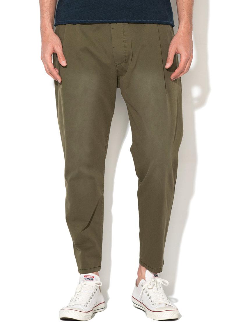Zee Lane Denim Pantaloni jogger crop kaki