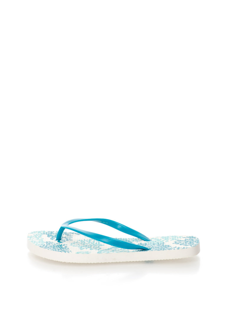 Undercolors of Benetton Papuci flip-flop albastri cu model grafic
