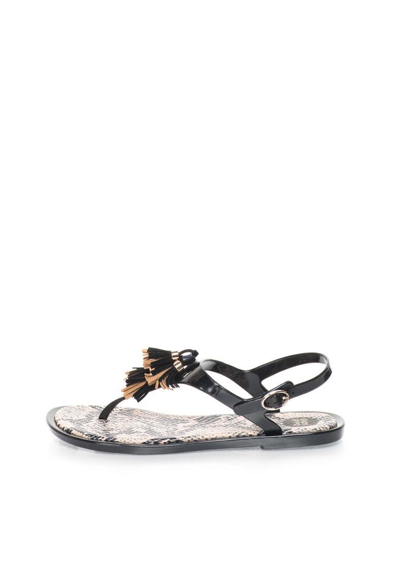 Gioseppo Sandale negre cu canafi Condra