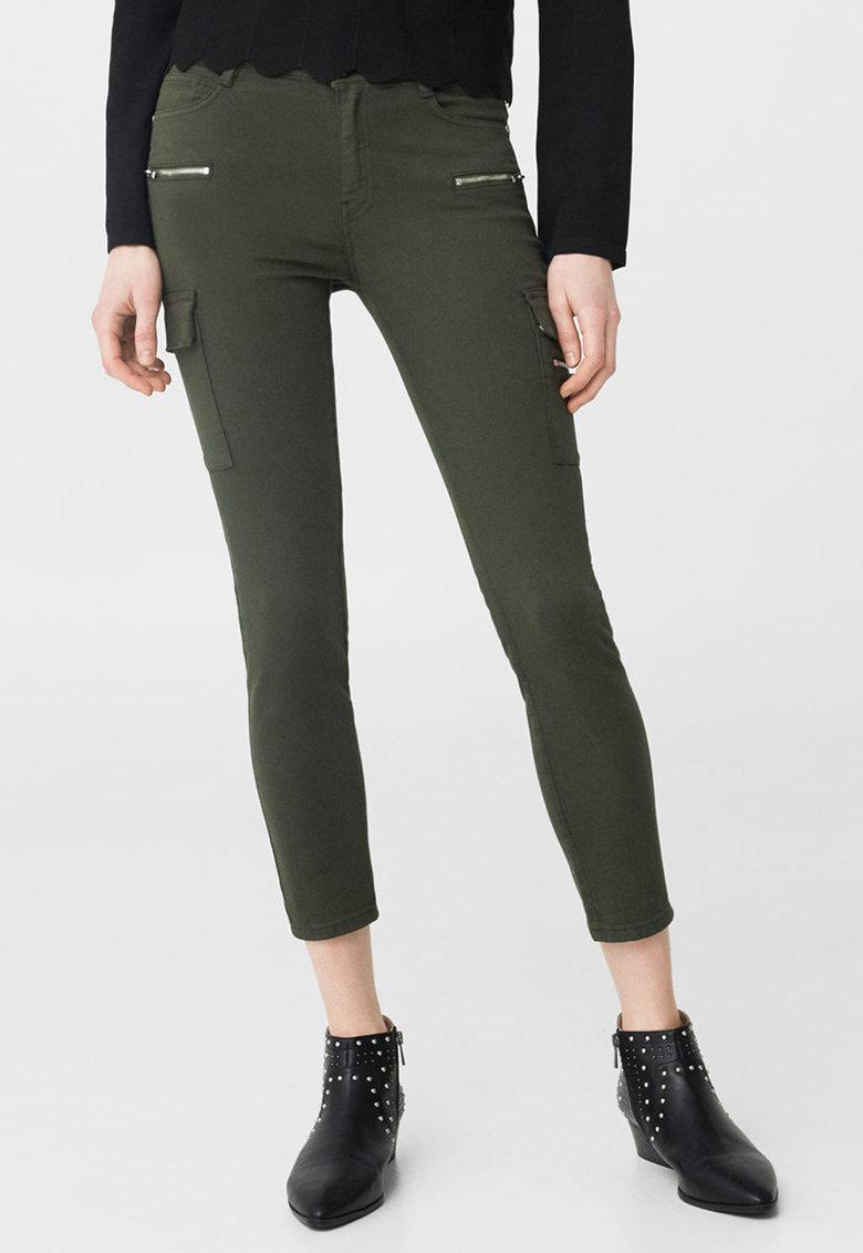 MANGO – Pantaloni cargo kaki 83063520-37