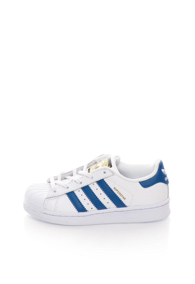 adidas Originals Tenisi albi de piele Superstar Fondation
