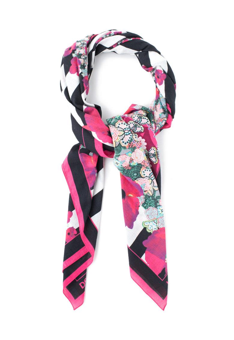 Desigual Esarfa multicolora cu imprimeu floral Sailor