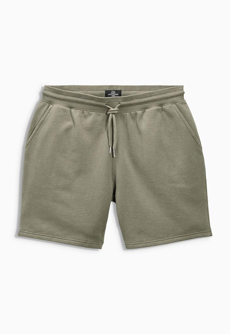 Pantaloni scurti verde oliv din jerseu