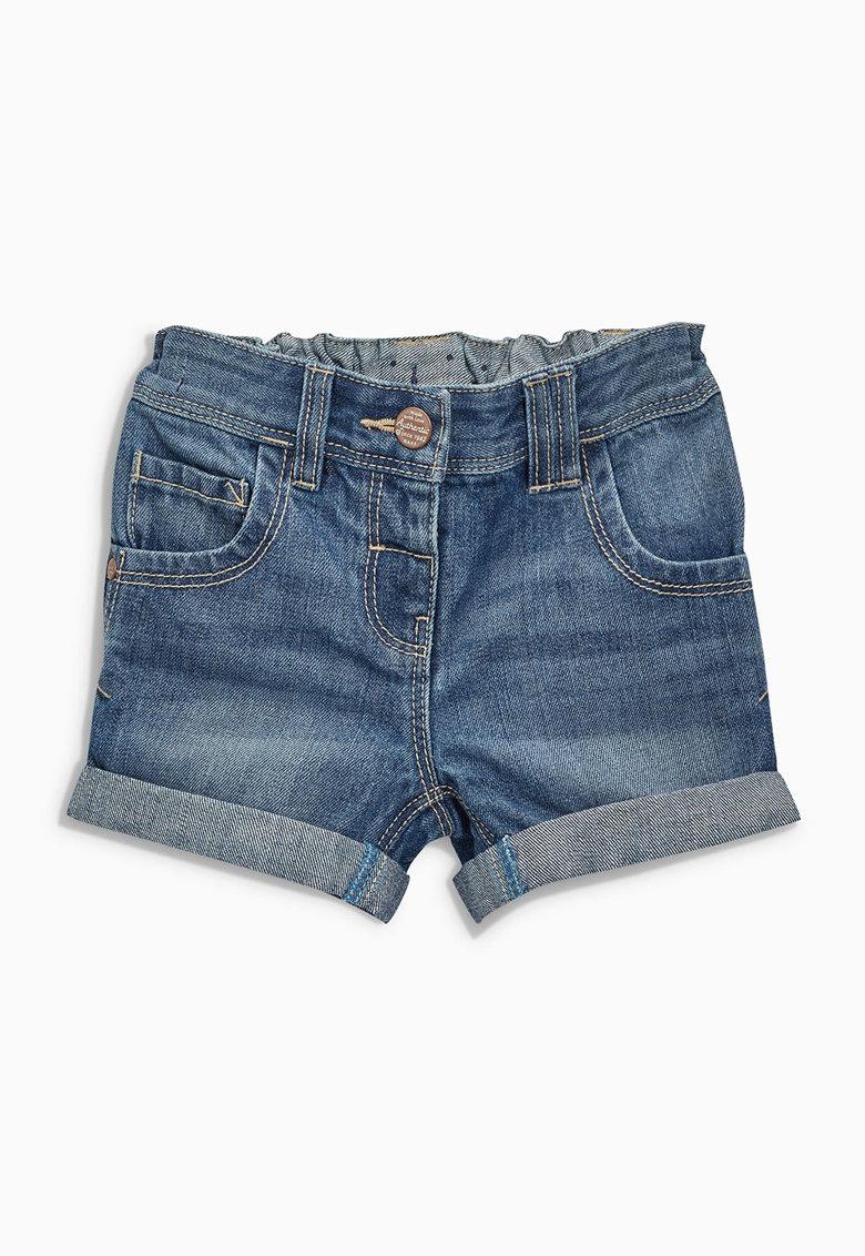 NEXT Pantaloni scurti albastri din denim cu mansete pliabile