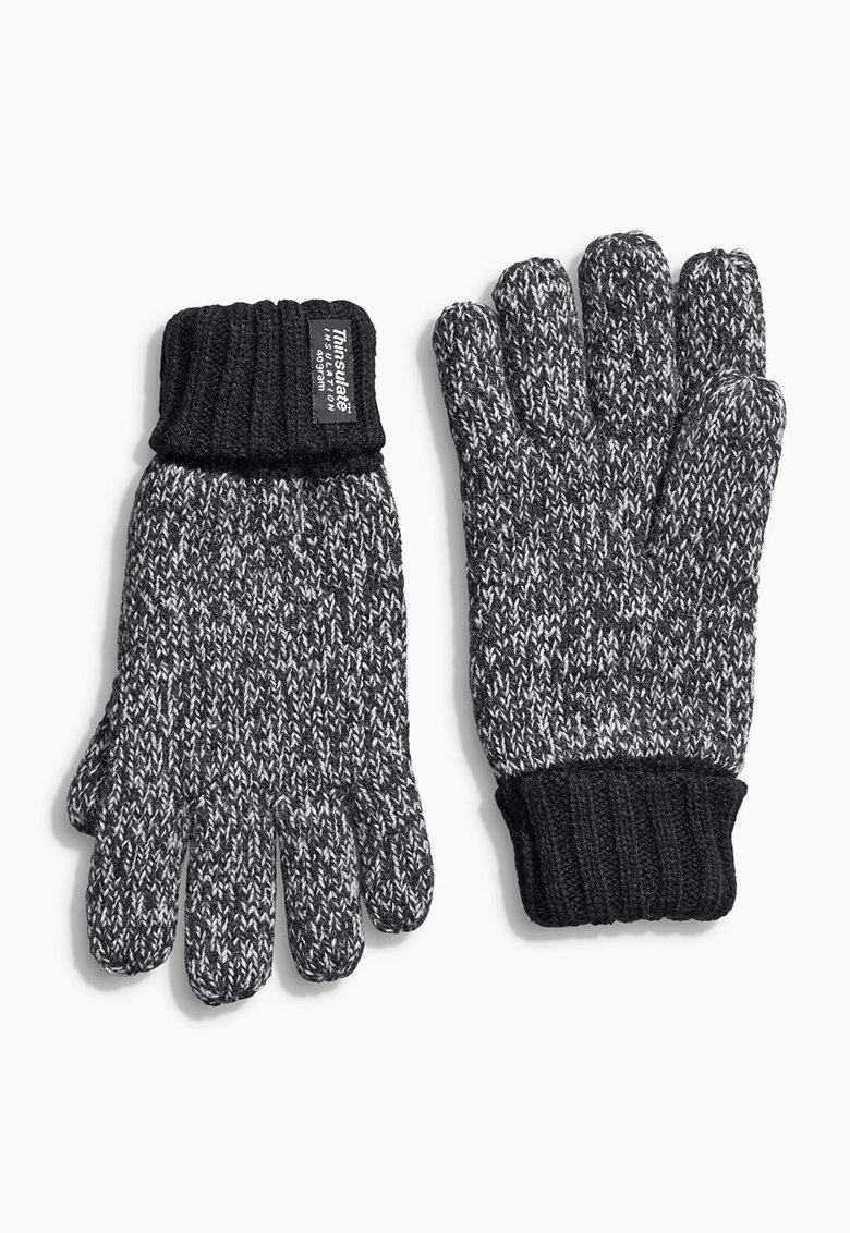 NEXT Manusi negru melange tricotate