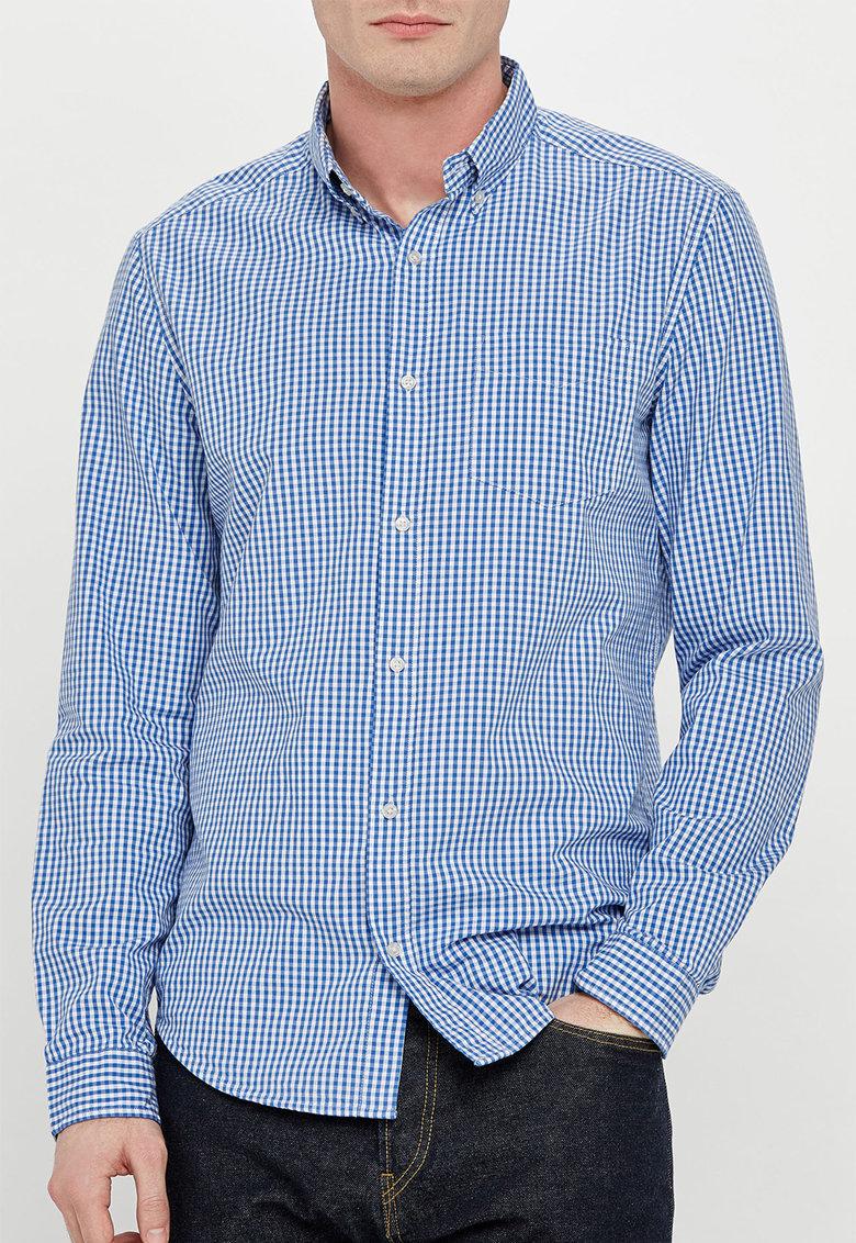 NEXT Camasa cu model gingham albastru cu alb