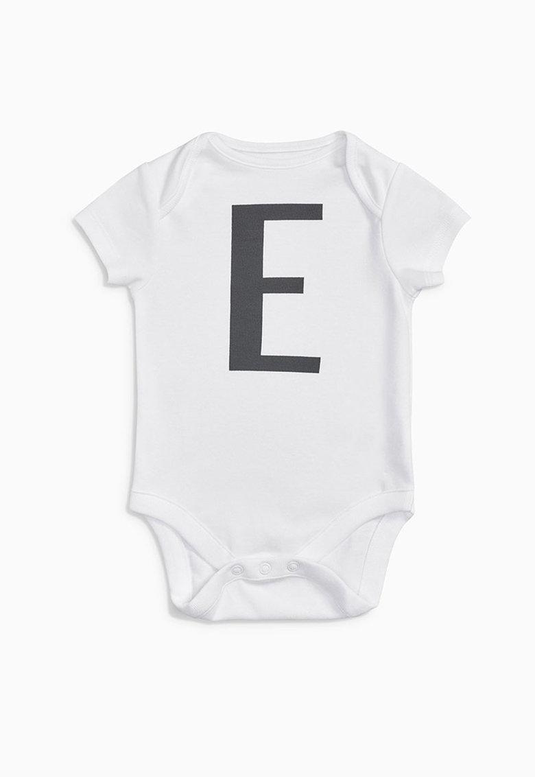 NEXT Set de body alb cu litera E si husa pentru depozitare