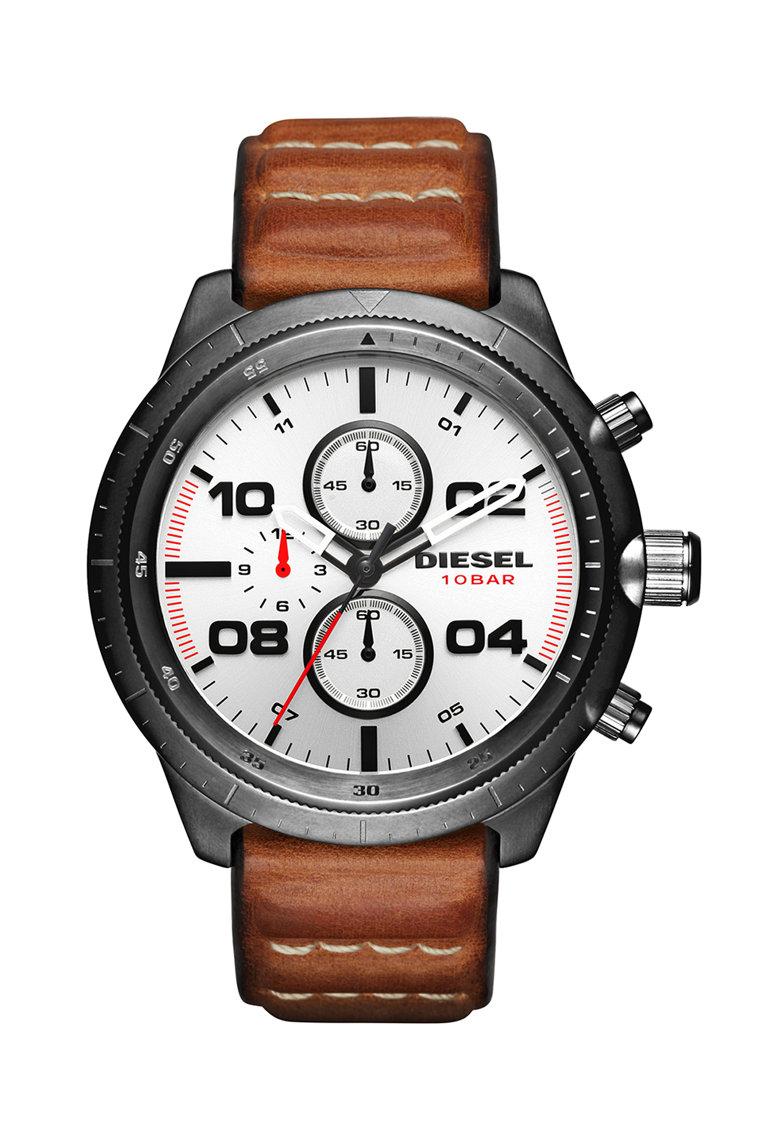 Diesel Ceas cronograf maro cu gri hematit Padlock 0