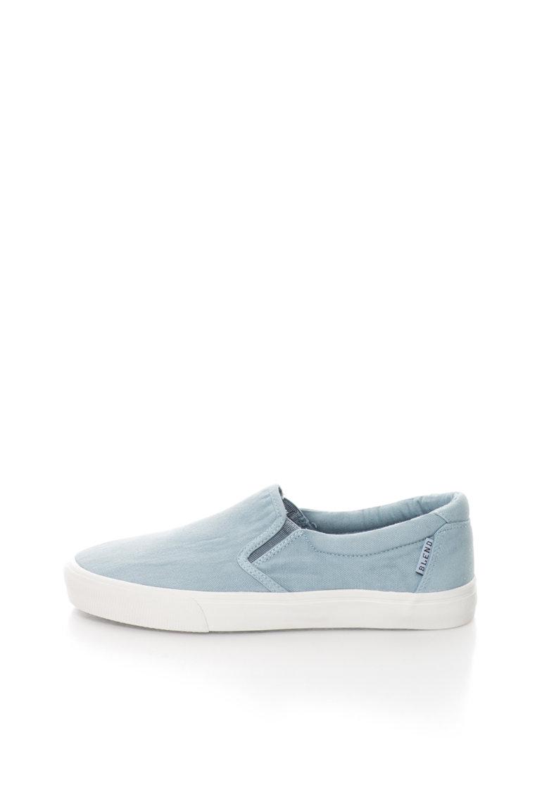 BLEND Pantofi slip-on albastru pal