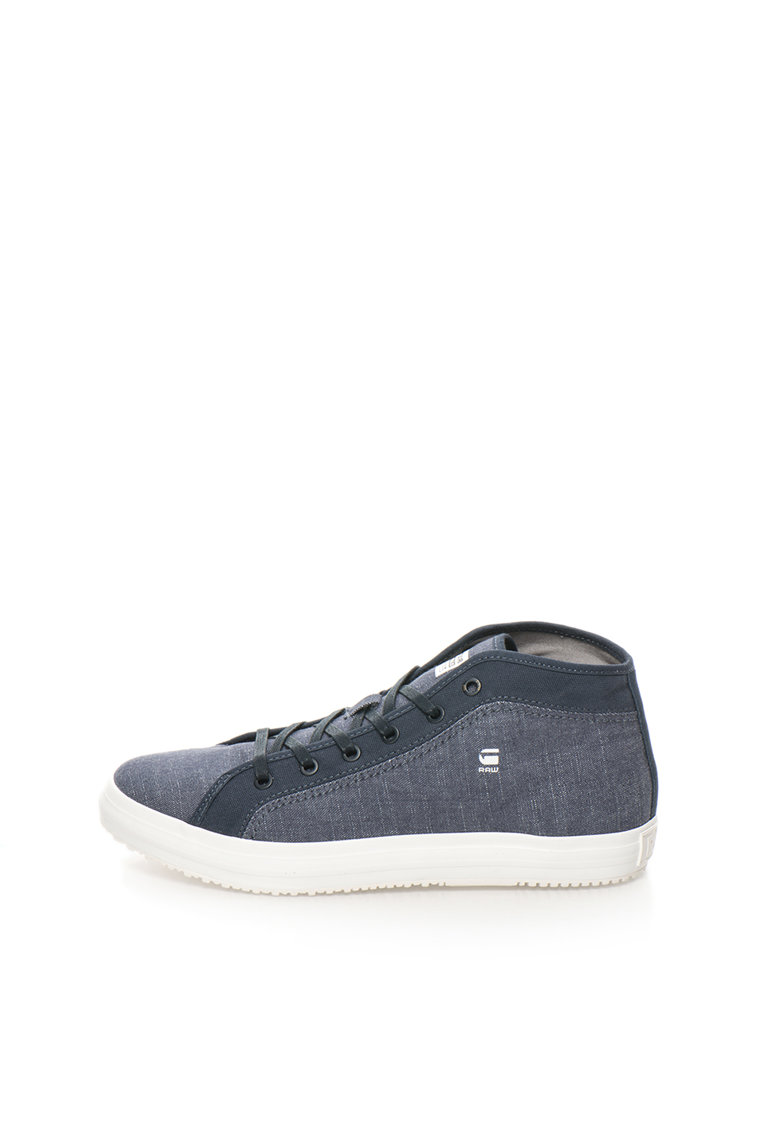 G-Star Raw Tenisi mid-high albastru inchis de chambray Kendo
