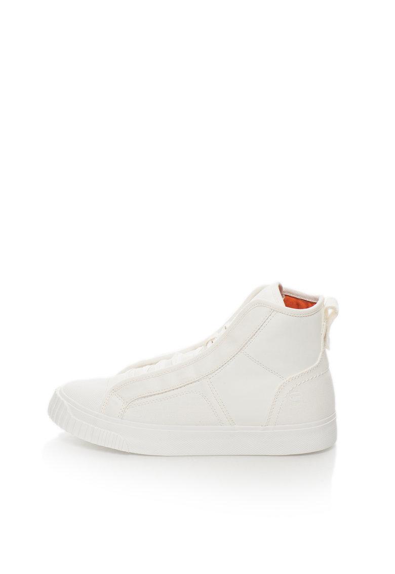 G-Star Raw Pantofi sport inalti albi Scuba