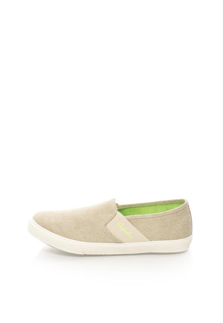 Australian Pantofi slip-on bej si benzi elastice