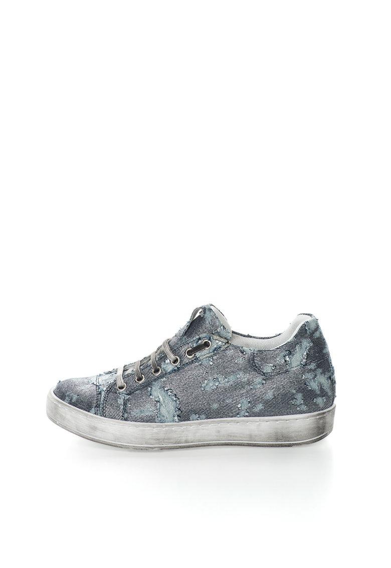 Zee Lane Pantofi sport bleumarin si argintiu cu aspect uzat