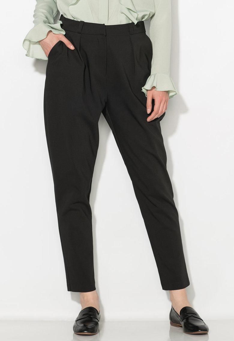 Pantaloni conici negri Zee Lane Collection