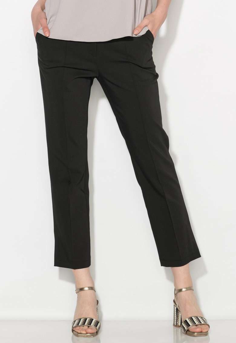 Pantaloni crop negri Zee Lane Collection