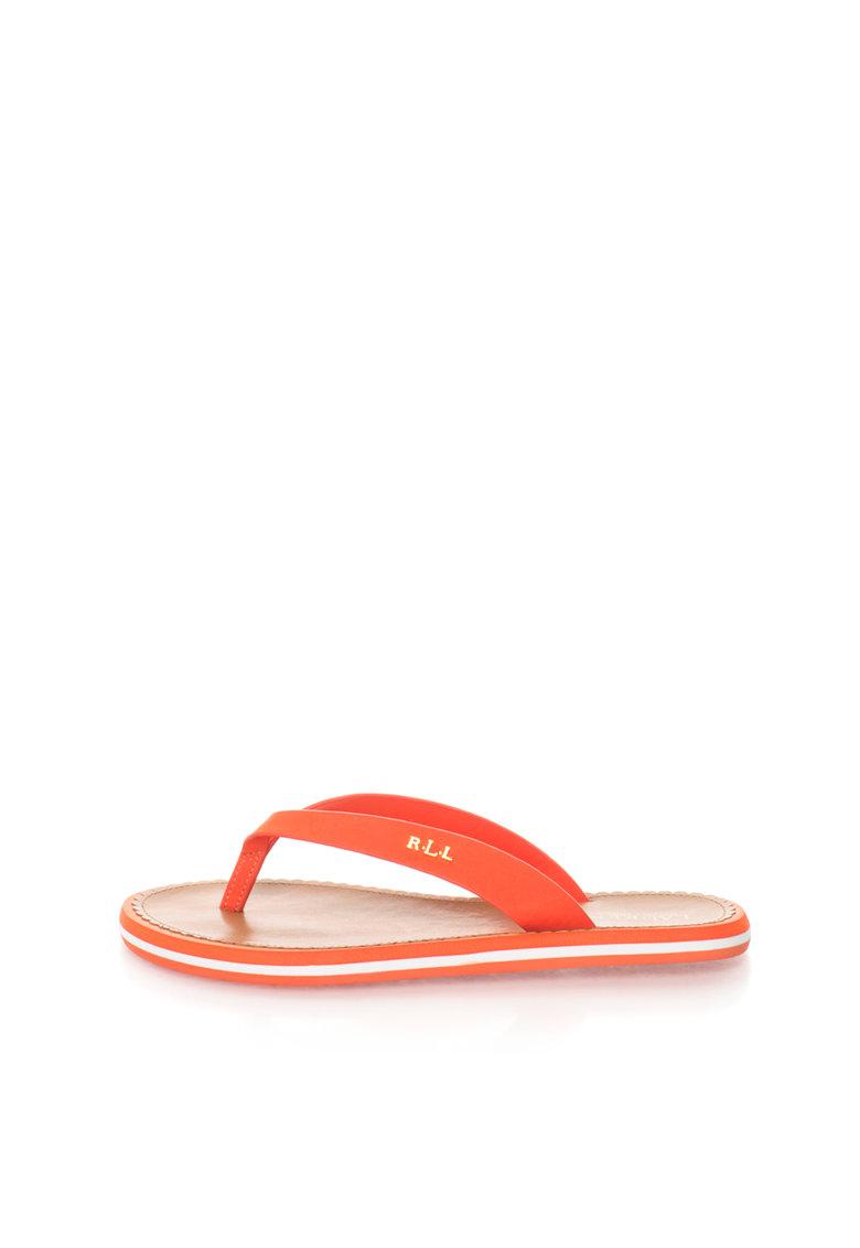 Papuci flip-flop oranj Ryanne