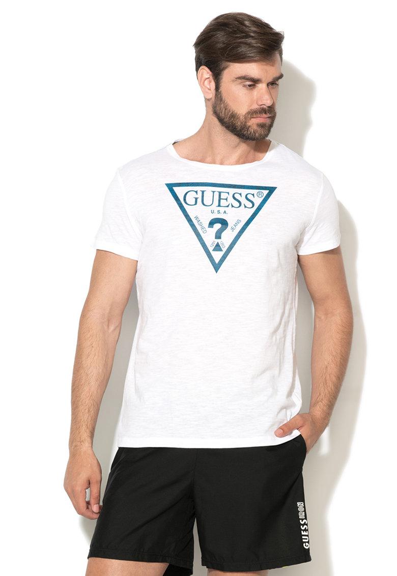 Tricou alb cu imprimeu logo