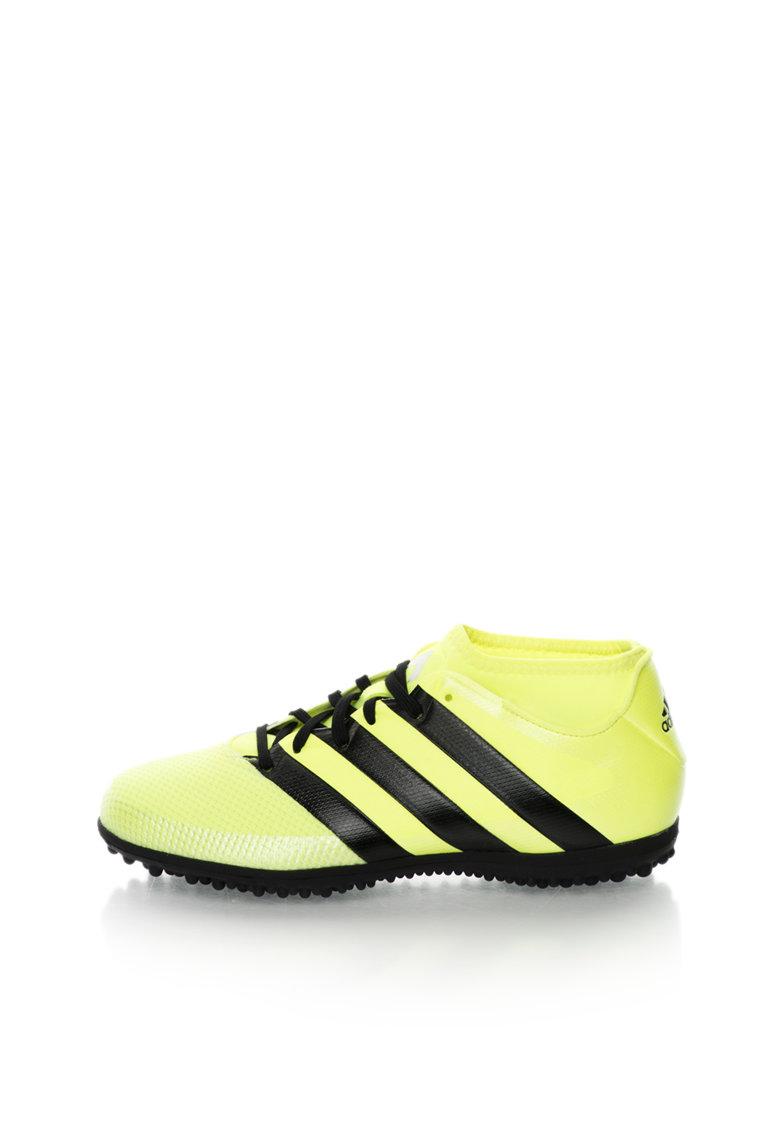 Pantofi sport pentru fotbal galben neon cu negru Ace 16.3 de la adidas