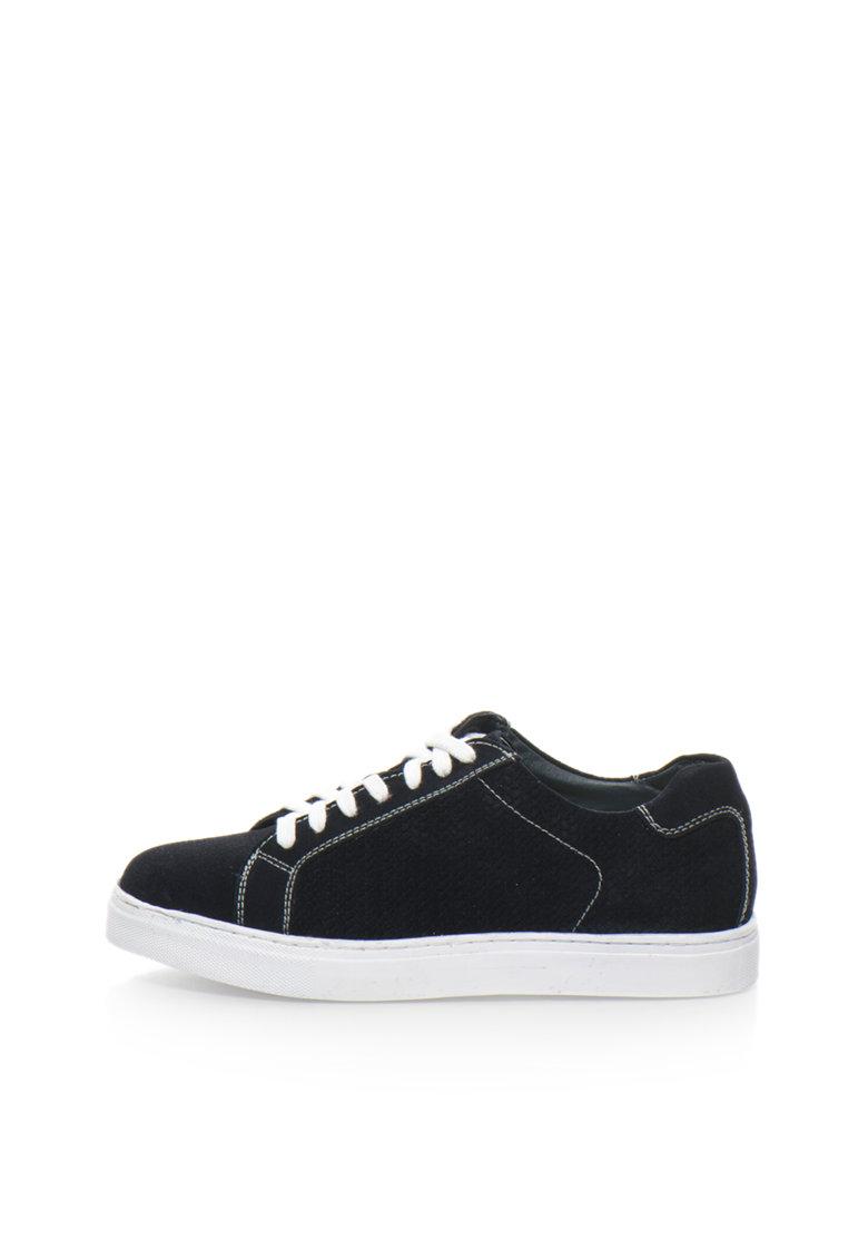 Zee Lane Pantofi sport bleumarin inchis de piele intoarsa