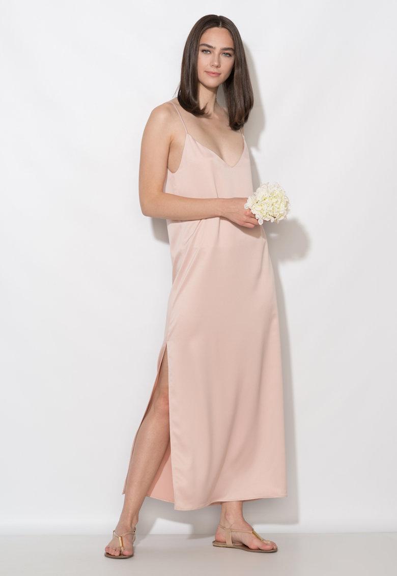 Zee Lane Collection Rochie maxi dreapta roz prafuit