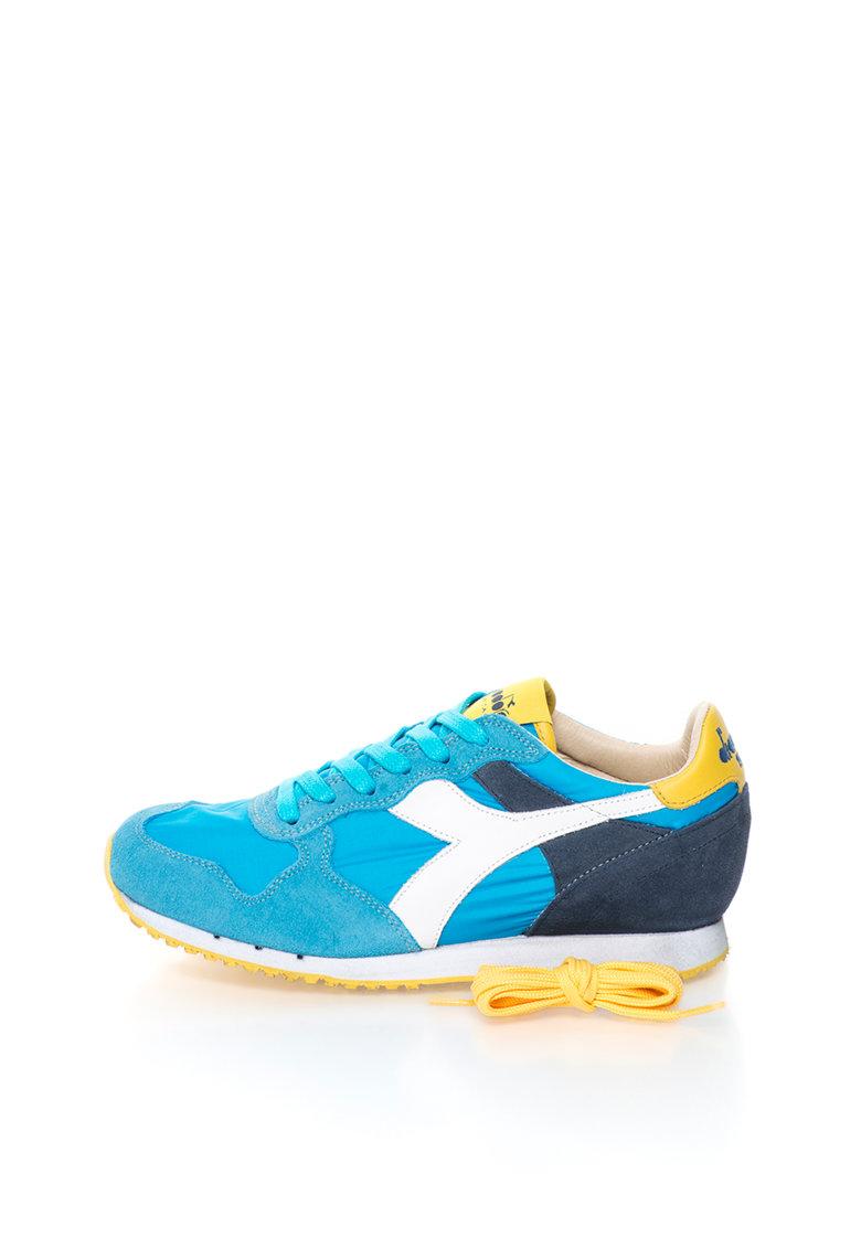 Diadora Heritage Pantofi sport in nuante de albastru cu alb Trident NY