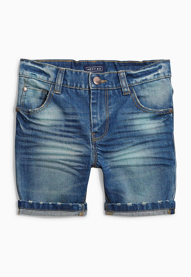 NEXT Pantaloni scurti albastri din denim