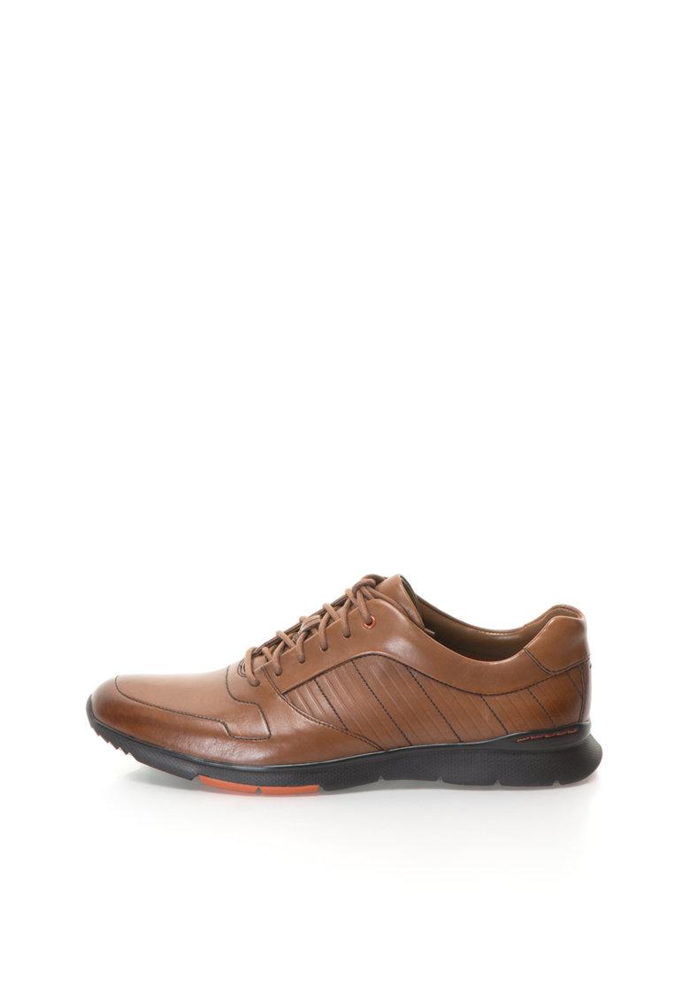 Clarks Pantofi casual maro deschis de piele Tynamo Race