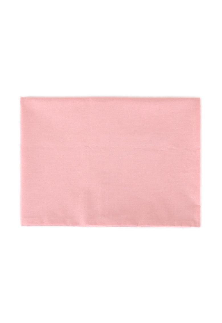 Cearsaf de pat roz din bumbac ranforce cu elastic de la Leunelle