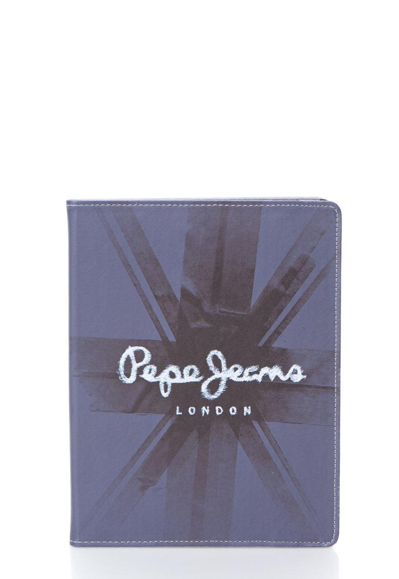 Husa gri cu imprimeu steag pentru iPad 2 – 3 si 4 de la Pepe Jeans London