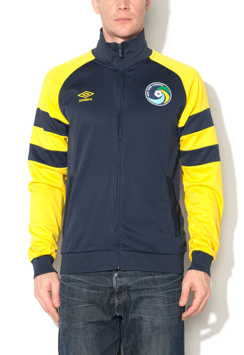 Umbro Bluza sport albastru ultramarin cu galben cu fermoar