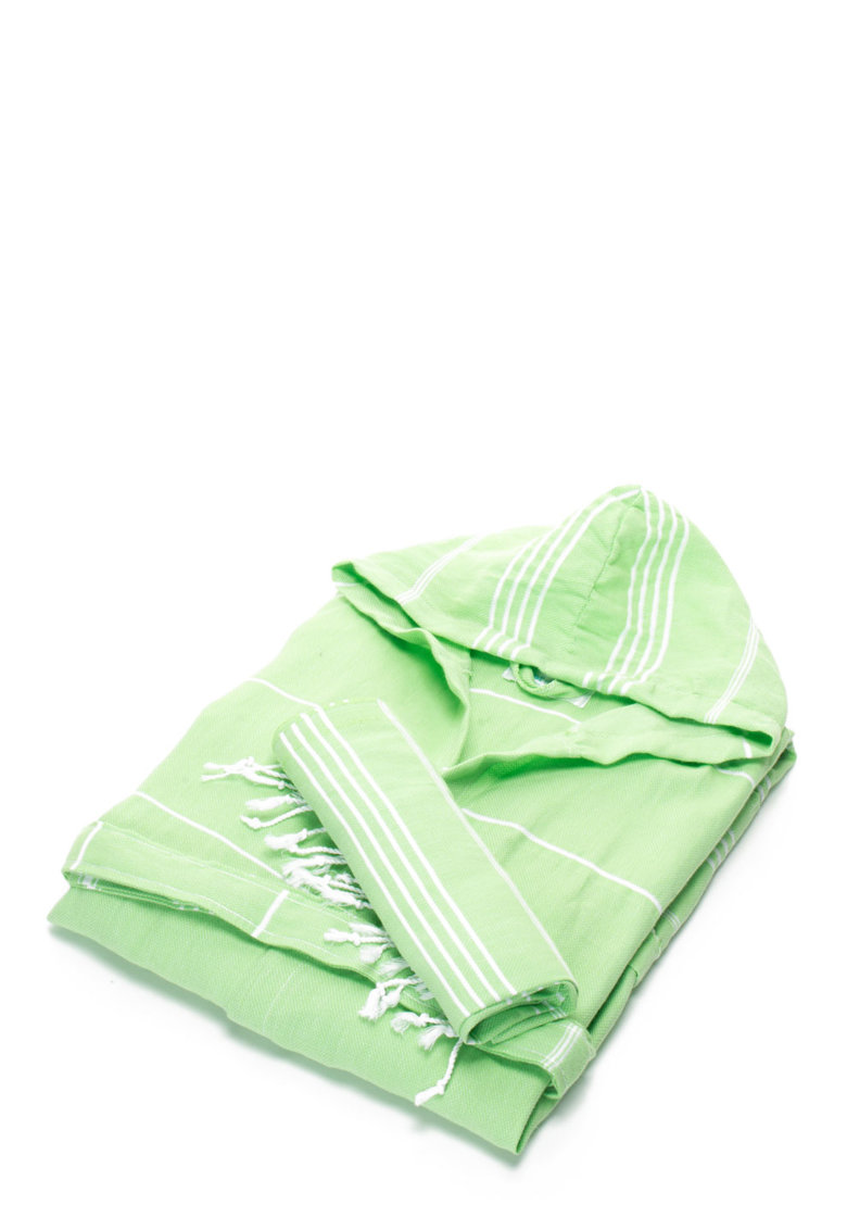 Leunelle Set de halat de baie si prosop verde jad Sultan