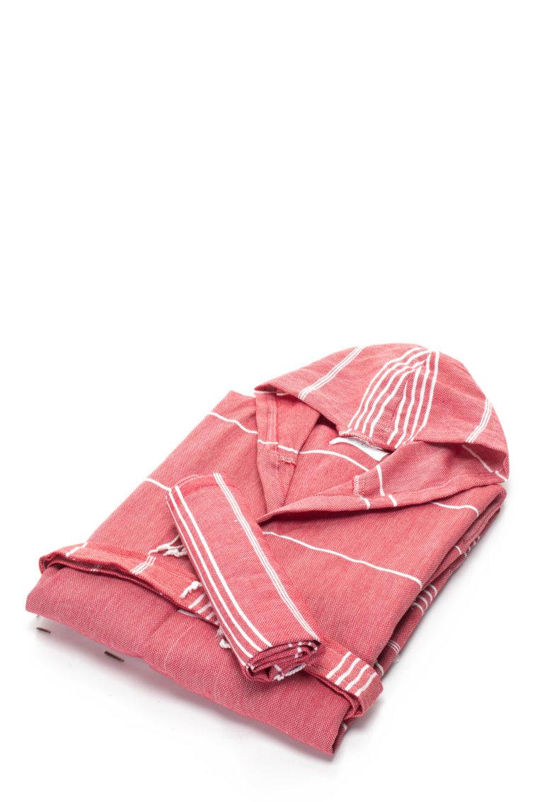 Leunelle Set de halat de baie si prosop rosu capsuna Sultan
