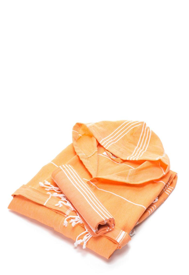 Set de halat de baie si prosop oranj Sultan