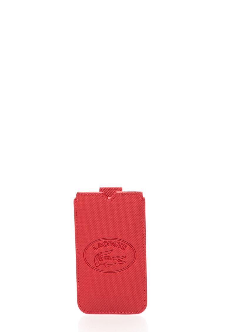 Husa rosie texturata pentru iPhone de la Lacoste