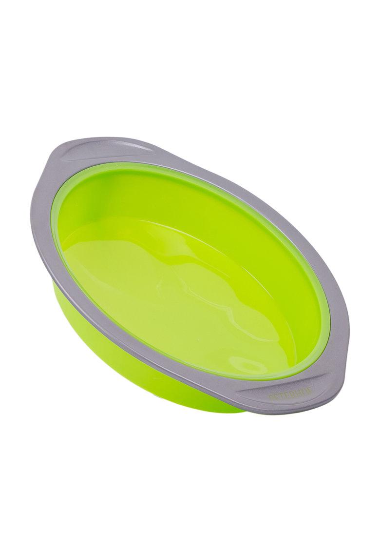 Forma rotunda verde cu gri din silicon pentru copt