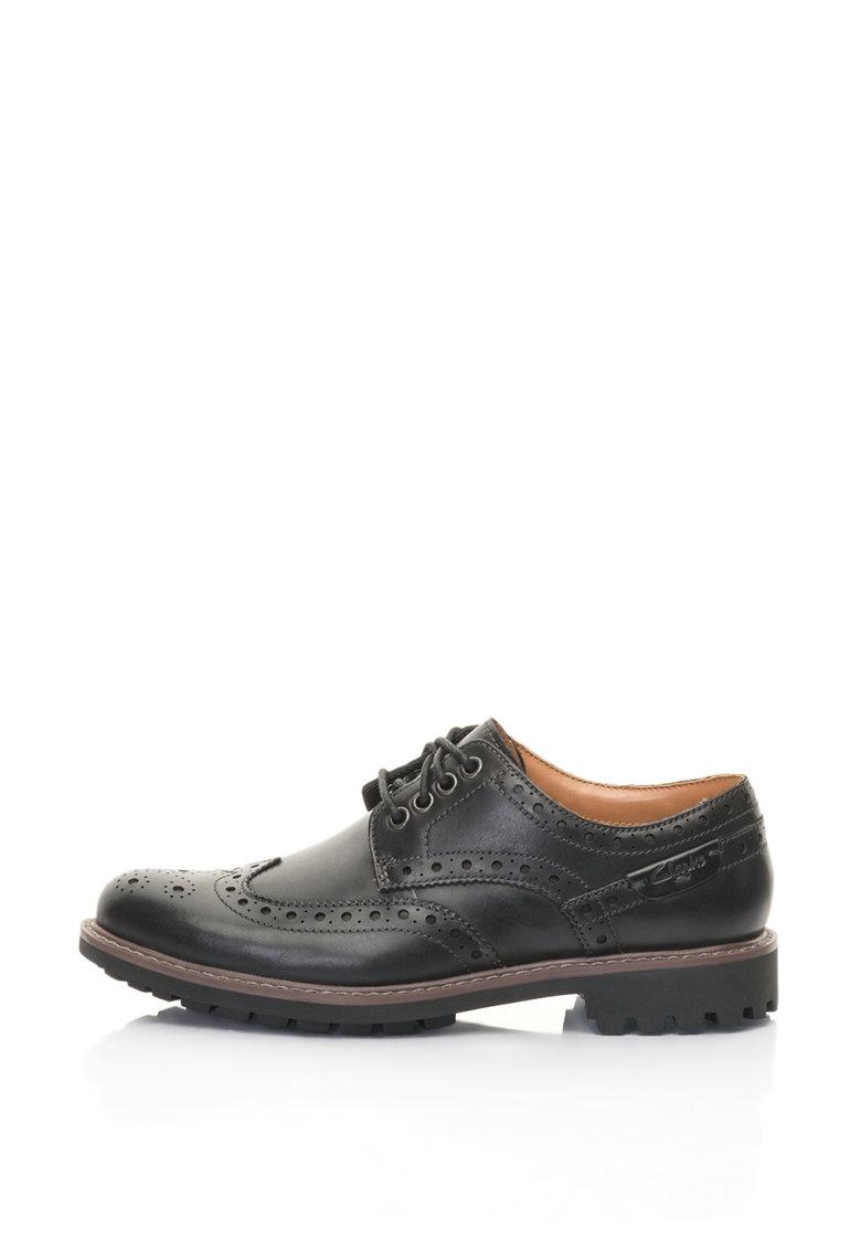 Pantofi brogue de piele Montacute de la Clarks