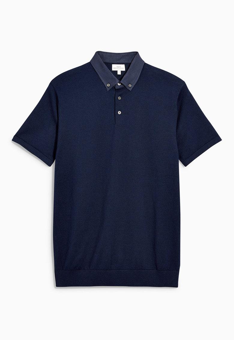 NEXT Tricou polo bleumarin