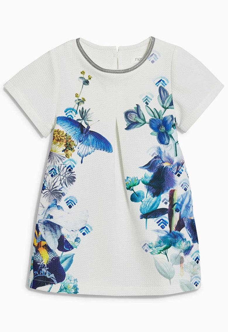 Rochie alba cu imprimeu floral