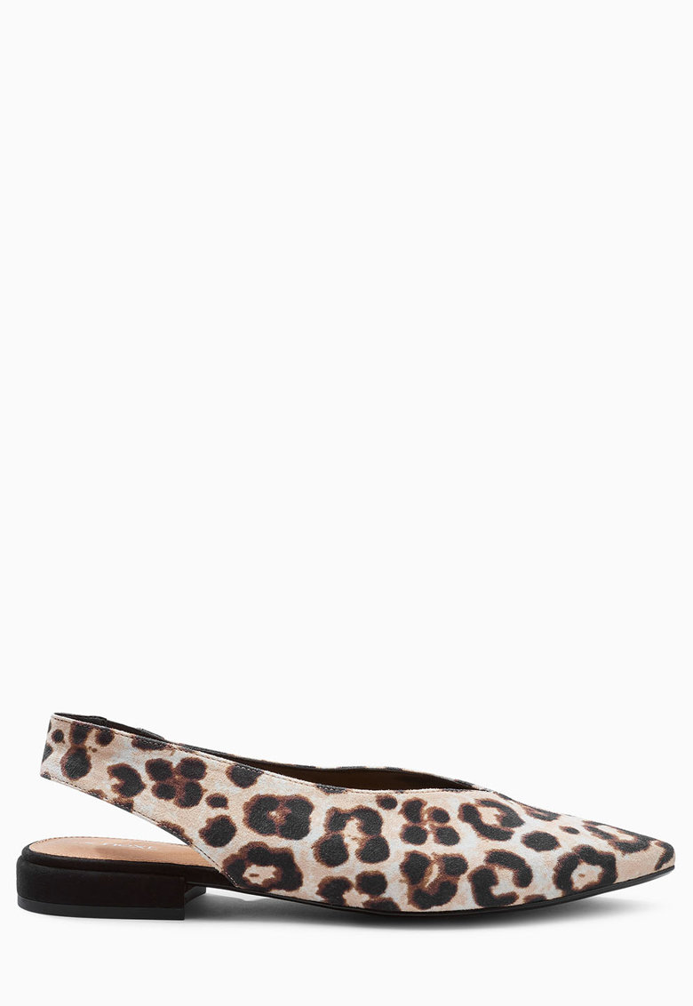 NEXT Balerini slingback multicolori cu animal print