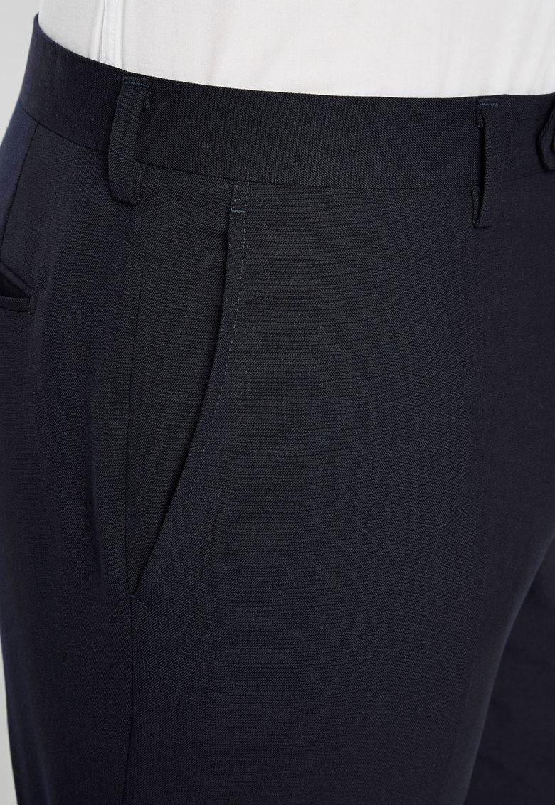 Pantaloni eleganti slim fit bleumarin inchis de lana de la NEXT