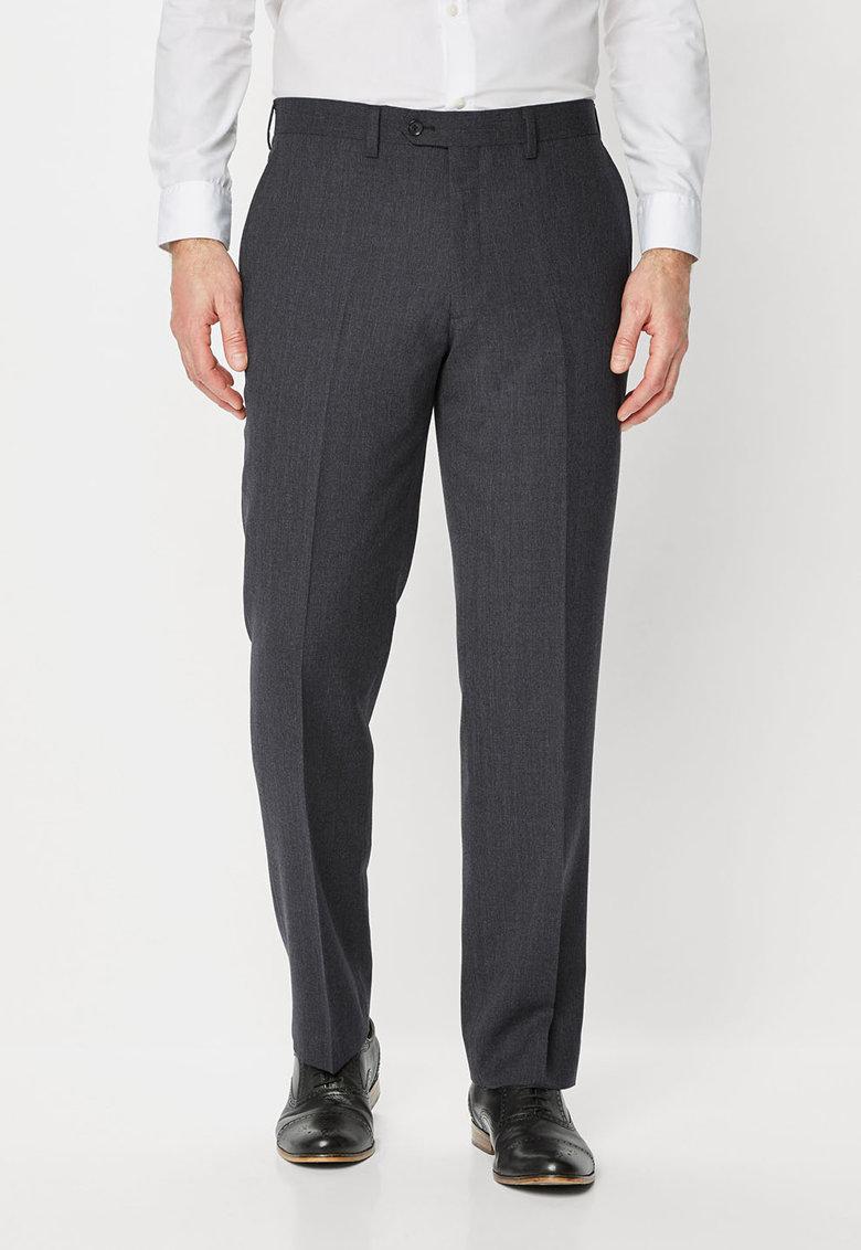 NEXT Pantaloni eleganti slim fit gri inchis de lana