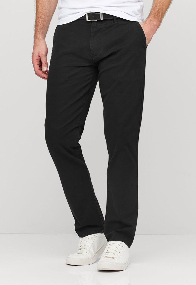 NEXT Pantaloni chino negri cu o curea