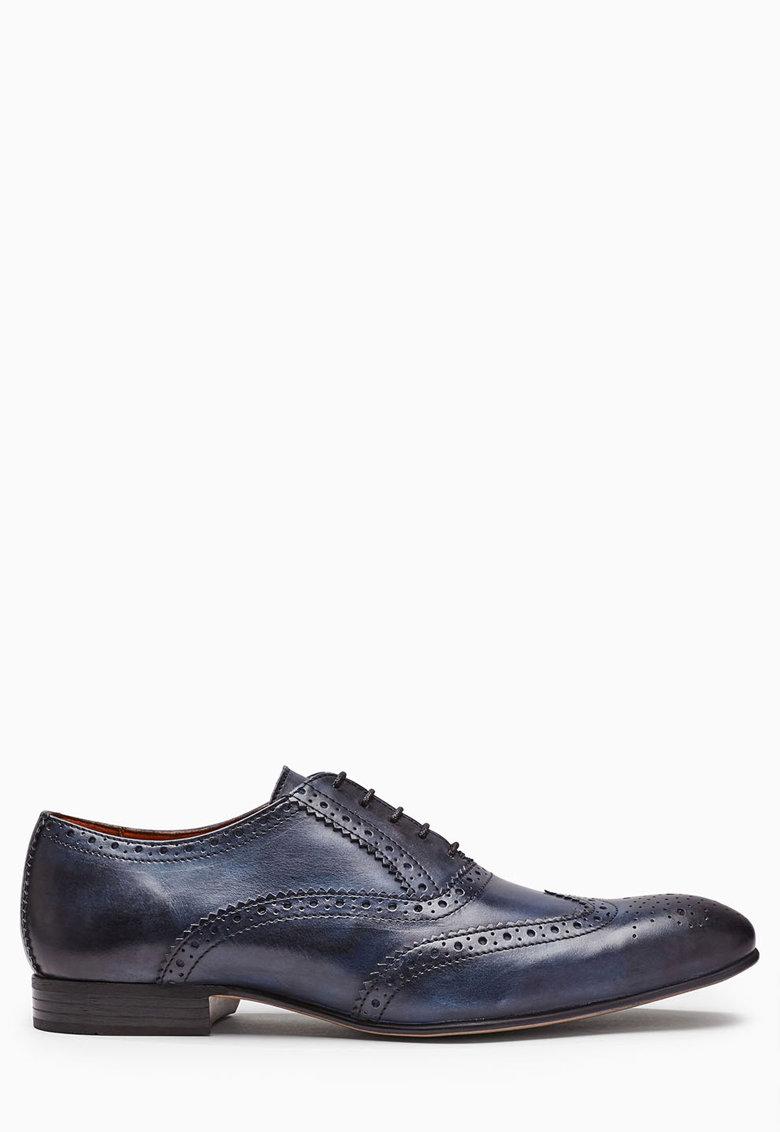 NEXT Pantofi brogue bleumarin de piele