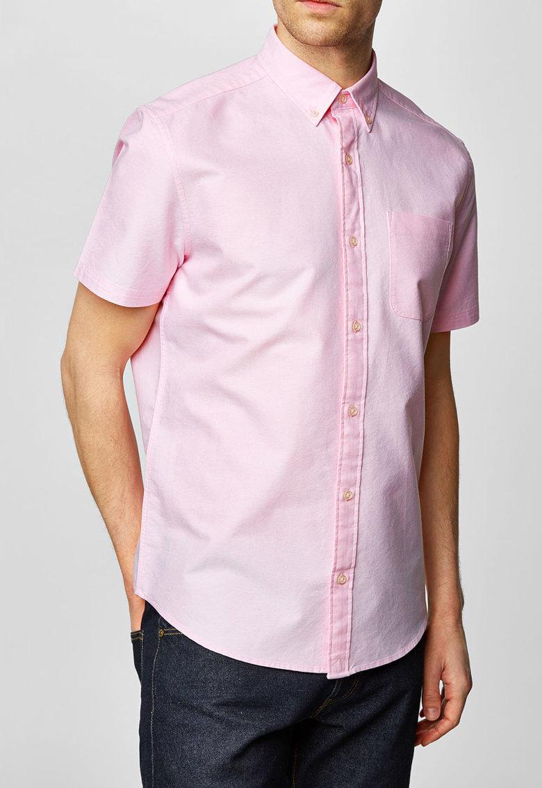 NEXT Camasa roz deschis regular fit cu terminatie rotunjita