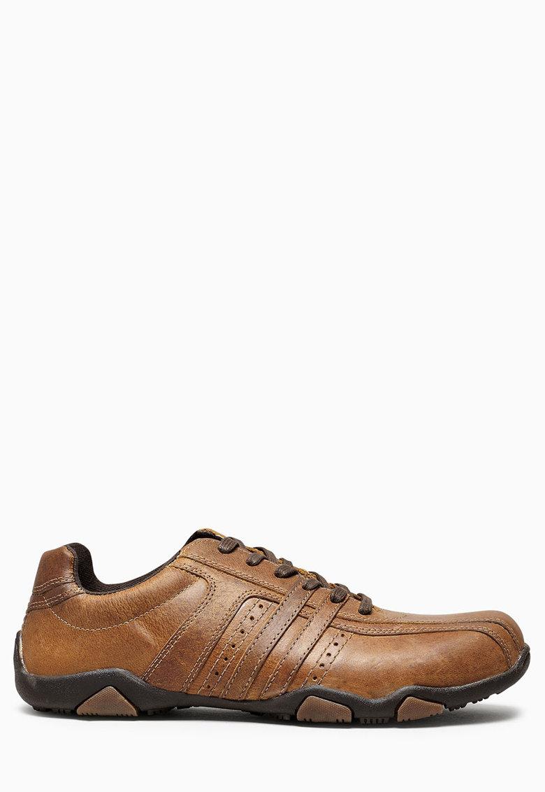 Pantofi casual maro de piele
