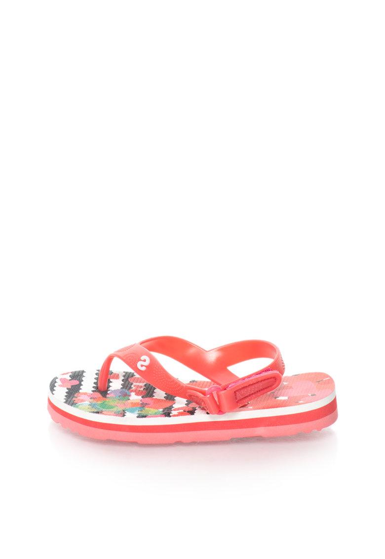 Desigual Sandale rosu capsuna cauciucate cu bareta separatoare Trazos