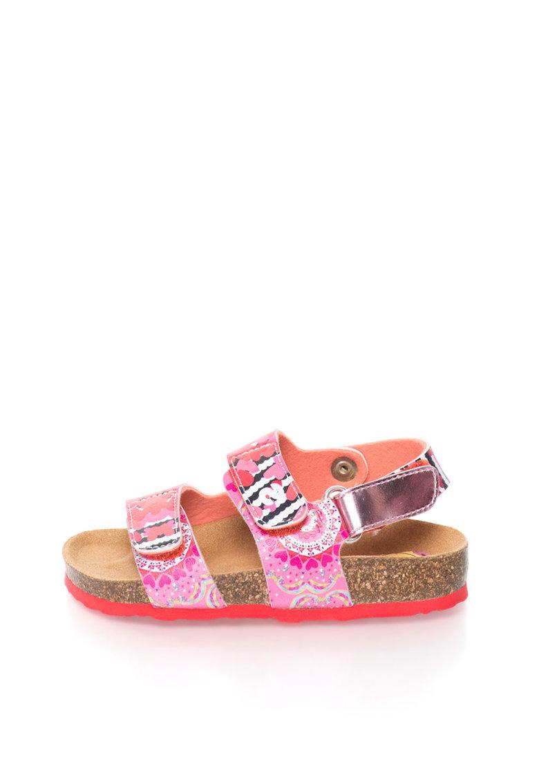 Desigual Sandale in nuante de roz Trazos